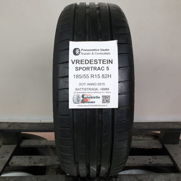 185/55 R15 82H Vredstein Sportrac 5 – 70% +6mm – Gomma Estiva