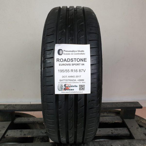 195/55 R16 87V Roadstone Eurovis Sport 04 – 70% +6mm – Gomma Estiva