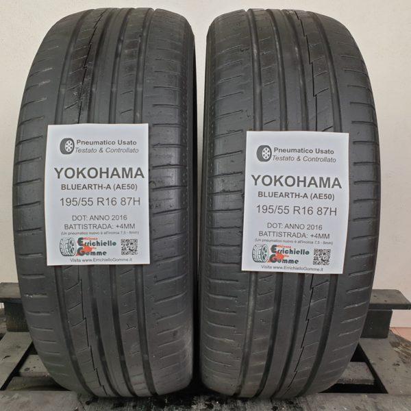 195/55 R16 87H Yokohama Bluearth-A – 50% +4mm – Gomme Estive