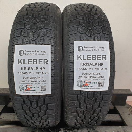 165/65 R14 79T M+S Kleber Krisalp HP – 60% +5mm Gomme Invernali