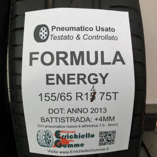 155/65 R14 75T Formula Energy – 50% +4mm – Gomme Estive