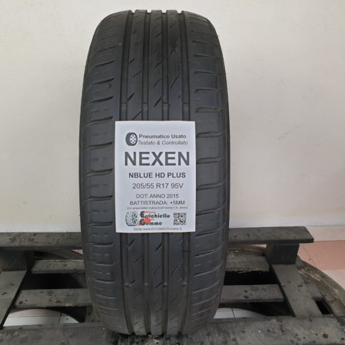 205/55 R17 95V Nexen Nblue HD Plus – 60% +5mm – Gomma Estiva