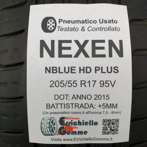 205/55 R17 95V Nexen Nblue HD Plus – 60% +5mm – Gomma Estiva