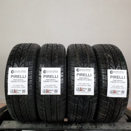 185/60 R13 80H Pirelli P5000 Vizzola – 100% +8mm Gomme Estive DOT OLD