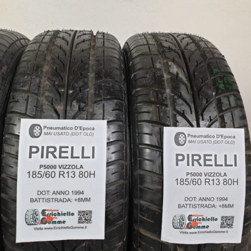 185/60 R13 80H Pirelli P5000 Vizzola – 100% +8mm Gomme Estive DOT OLD