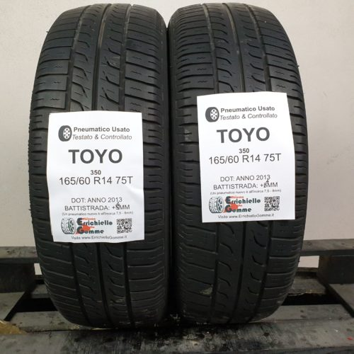 165/60 R14 75T Toyo 350 – 50% +4mm – Gomme Estive