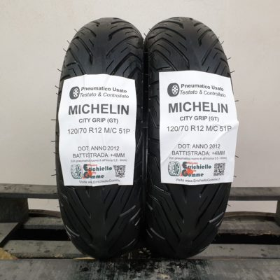 120/70 R12 M/C 51P Michelin City Grip (GT) – 70% +4mm – Gomme Scooter