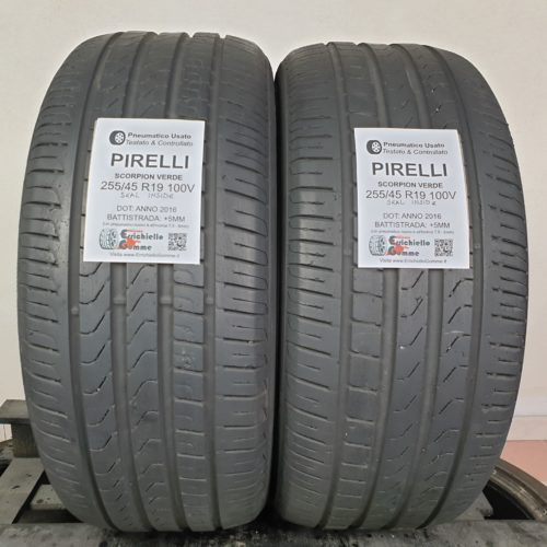 255/45 R19 100V Pirelli Scorpion Verde Seal Inside* – 60% +5mm – Gomme Estive