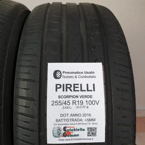 255/45 R19 100V Pirelli Scorpion Verde Seal Inside* – 60% +5mm – Gomme Estive