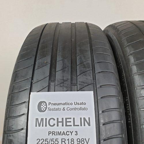 225/55 R18 98V Michelin Primacy 3 – 50% +4mm – Gomme Estive