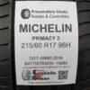 215/60 R17 96H Michelin Primacy 3 – 60% +5mm – Gomme Estive