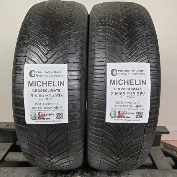205/65 R15 99V XL M+S Michelin CrossClimate – 50% +4mm – Gomme 4 Stagioni