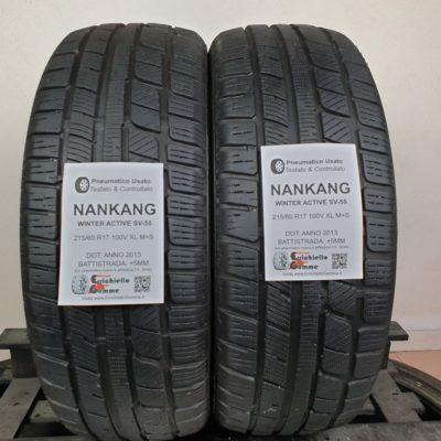 215/60 R17 100V XL M+S Nankang Winter Active SV-55 –  60% +5mm – Gomme Invernali