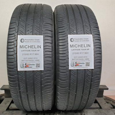215/60 R17 96H Michelin Latitude Tour HP –  50% +4mm – Gomme Estive