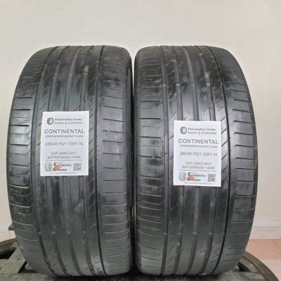 285/40 R21 109Y XL Continental ContiSportContact 5 (AO) – 50% +4mm – Gomme Estive