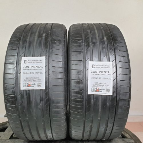 285/40 R21 109Y XL Continental ContiSportContact 5 (AO) – 50% +4mm – Gomme Estive