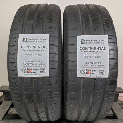 195/55 R16 87H Continental ContiPremiumContact 2 – 50% +4mm – Gomme Estive