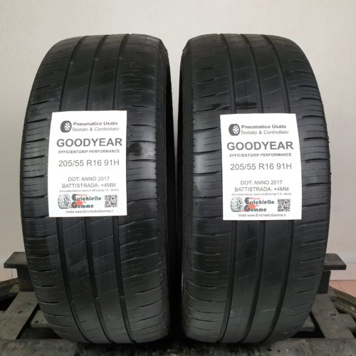 205/55 R16 91H Goodyear EfficientGrip Performance – 50% +4mm – Gomme Estive