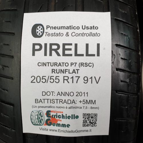 205/55 R17 91V Pirelli Cinturato P7 (RSC) Runflat – 60% +5mm – Gomme Estive
