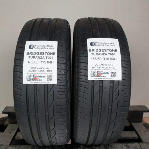 185/60 R15 84H Bridgestone Turanza T001 – 50% +4mm – Gomme Estive