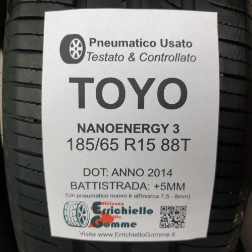 185/65 R15 88T Toyo NanoEnergy 3 – 60% +5mm – Gomme Estive