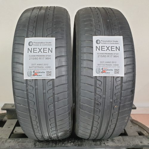 215/60 R17 96H Nexen  Classe Premiere CP 641 – 50% +4mm – Gomme Estive