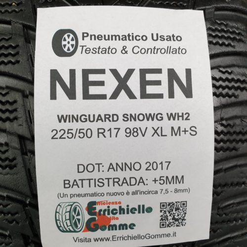 225/50 R17 98V XL M+S Nexen Winguard SnowG WH2 – 60% +5mm – Gomme 4 Stagioni