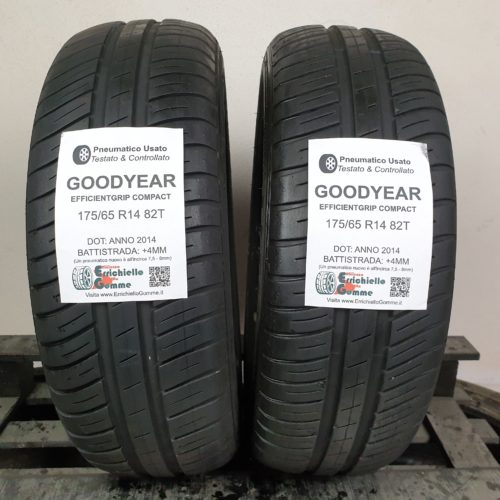 175/65 R14 82T Goodyear EfficientGrip – 50% +4mm – Gomme Estive