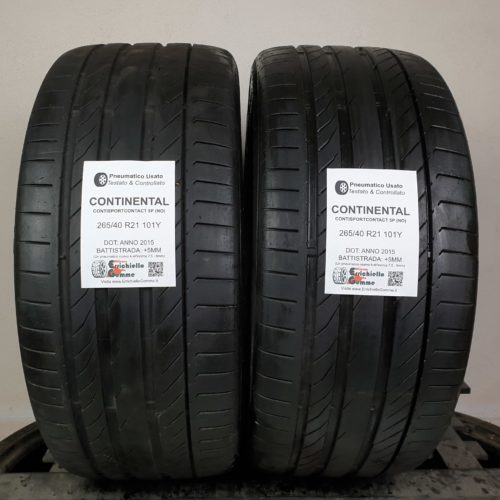 265/40 R21 101Y Continental ContiSportContact 5P (NO) – 60% +5mm – Gomme Estive