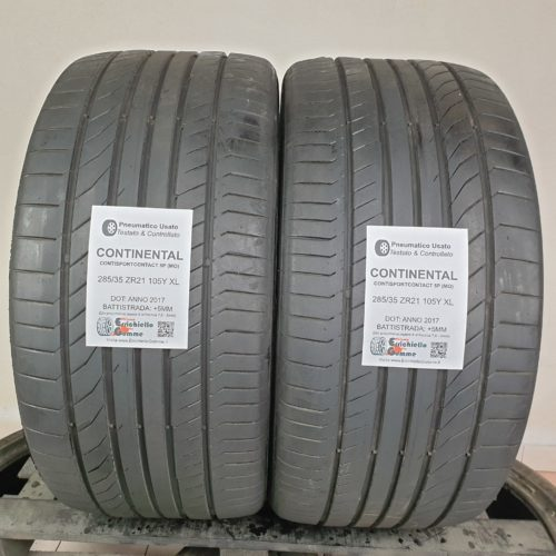 285/35 ZR21 105Y XL Continental ContiSportContact 5P (MO) – 60% +5mm Gomme Estive