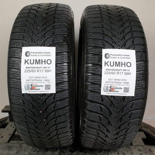 225/60 R17 99H M+S Kumho Wintercraft WP51 – 60% +5mm – Gomme Invernali