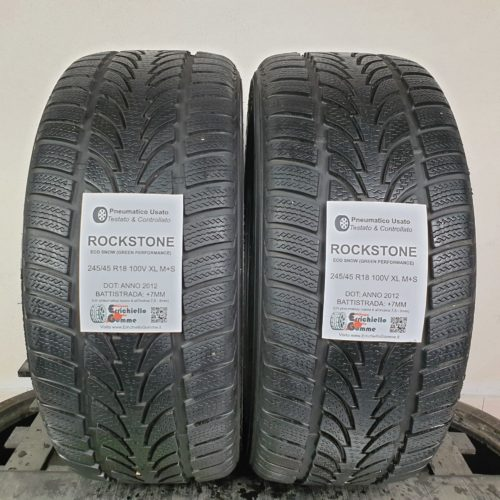 245/45 R18 100V XL M+S Rockstone EcoSnow (Green Performance) – 90% +7mm – Gomme Invernali