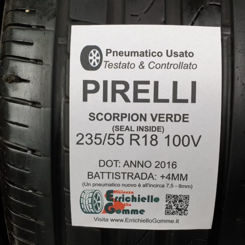 235/55 R18 100V Pirelli Scorpion Verde (Seal Inside)  – 50% +4mm – Gomme Estive