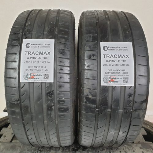 245/45 ZR18 100Y XL TracMax X-Privilo TX3  – 50% +4mm – Gomme Estive