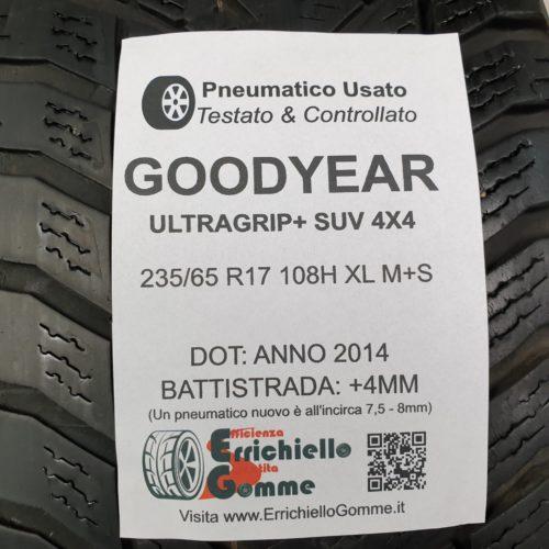 235/65 R17 108H XL M+S Goodyear UltraGrip+ SUV 4×4  – 50% +4mm Gomme Invernali