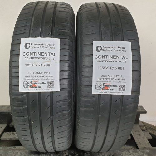 185/65 R15 88T Continental ContiEcoContact 3  – 60% +5mm – Gomme Estive