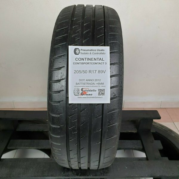 205/50 R17 89V Continental ContiSportContact 3 – 70% +6mm – Gomme Estive