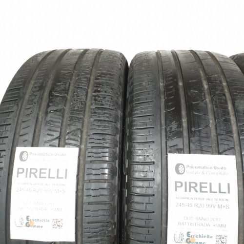 245/45 R20 99V M+S Pirelli Scorpion Verde (All Seasons)  – 60% +5mm Gomme 4 Stagioni