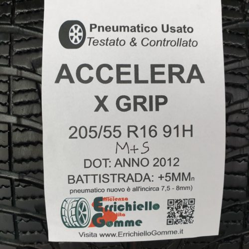 205/55 R16 91H M+S Accelera X Grip  – 60% +5mm Gomme 4 Stagioni