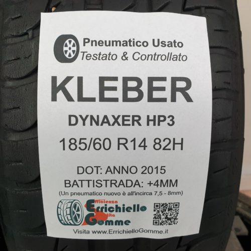 185/60 R14 82H Kleber Dynaxer HP3 – 50% +4mm – Gomme Estive