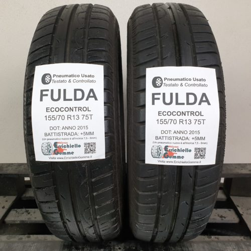 155/70 R13 75T Fulda EcoControl –  60% +5mm – Gomme Estive