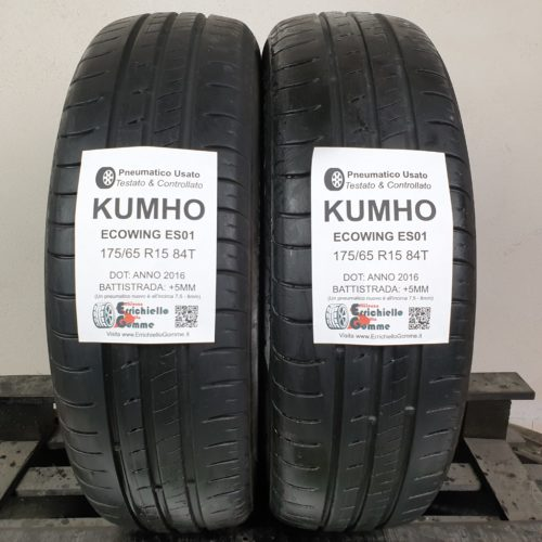 175/65 R15 84T Kumho Ecowing ES01 –  60% +5mm – Gomme Estive