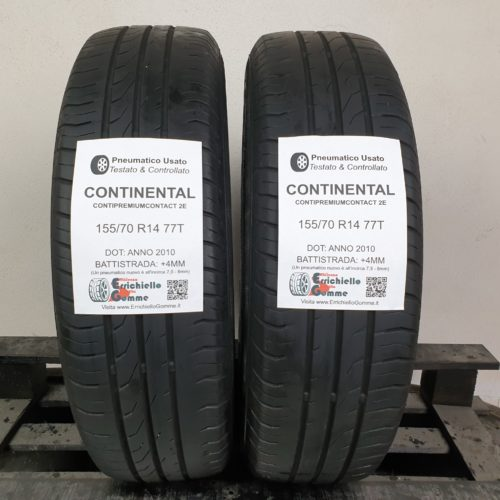 155/70 R14 77T Continental ContiPremiumContact 2E –  50% +4mm – Gomme Estive