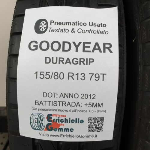 155/80 R13 79T Goodyear Duragrip –  60% +5mm – Gomme Estive