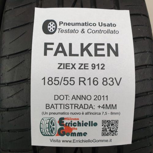 185/55 R16 83V Falken Ziex ZE 912 –  50% +4mm – Gomme Estive