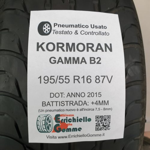 195/55 R16 87V Kormoran Gamma B2 –  50% +4mm – Gomme Estive