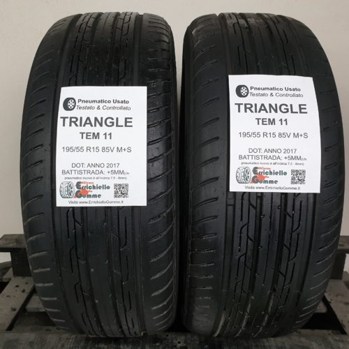 195/55 R15 85V M+S Triangle TEM 11 – 60% +5mm – Gomme Estive