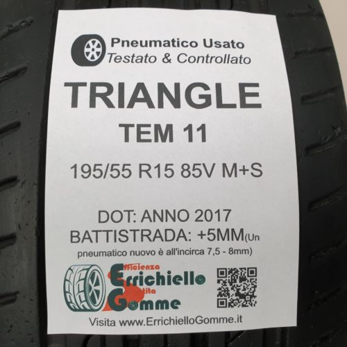 195/55 R15 85V M+S Triangle TEM 11 – 60% +5mm – Gomme Estive