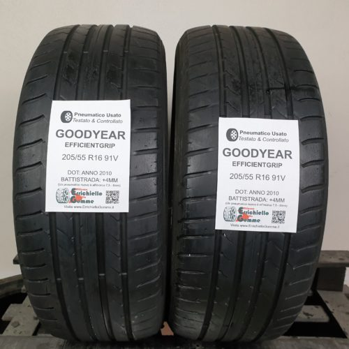 205/55 R16 91V Goodyear EfficientGrip – 50% +4mm – Gomme Estive
