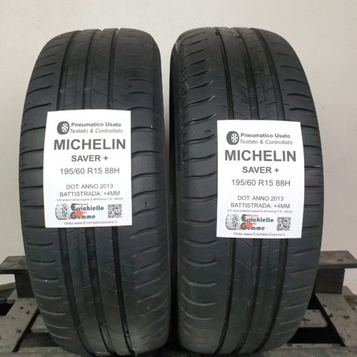195/60 R15  88H Michelin Energy Saver+ – 50% +4mm Gomme Estive